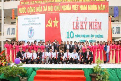 Lễ kỷ niệm 10 năm thành lập trường THPT Trần Hưng Đạo