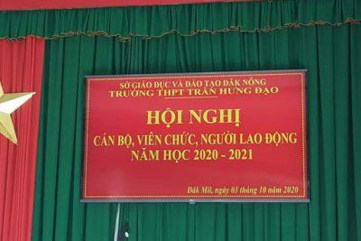 TRƯỜNG THPT TRẦN HƯNG ĐẠO – TỔ CHỨC HỘI NGHỊ CÁN BỘ, VIÊN CHỨC VÀ NGƯỜI LAO ĐỘNG NĂM HỌC 2020-2021